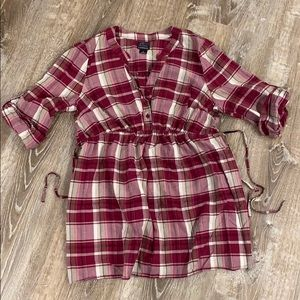 Plaid maternity top